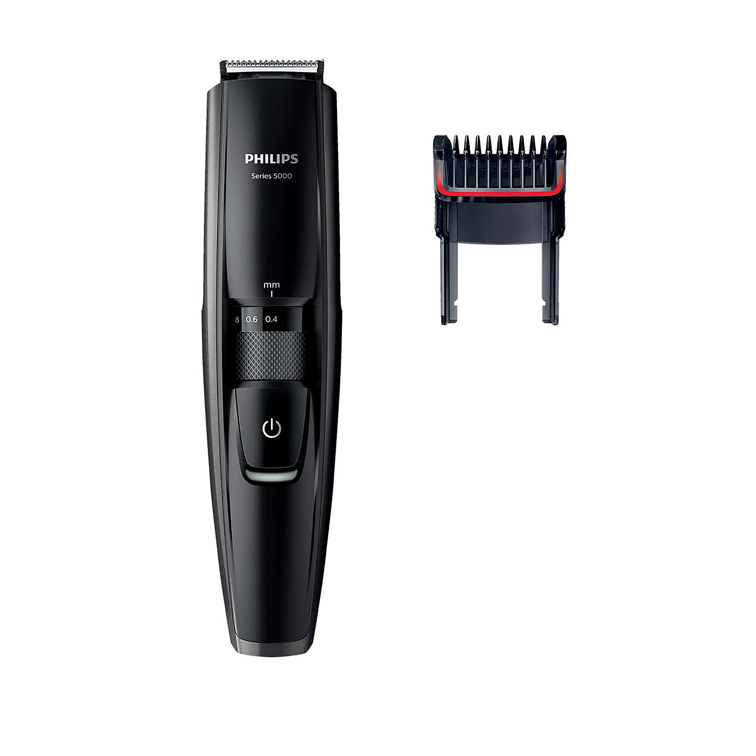 Philips BT5200/16 - Barbero con cuchillas metálicas y peine-guía integrado, color