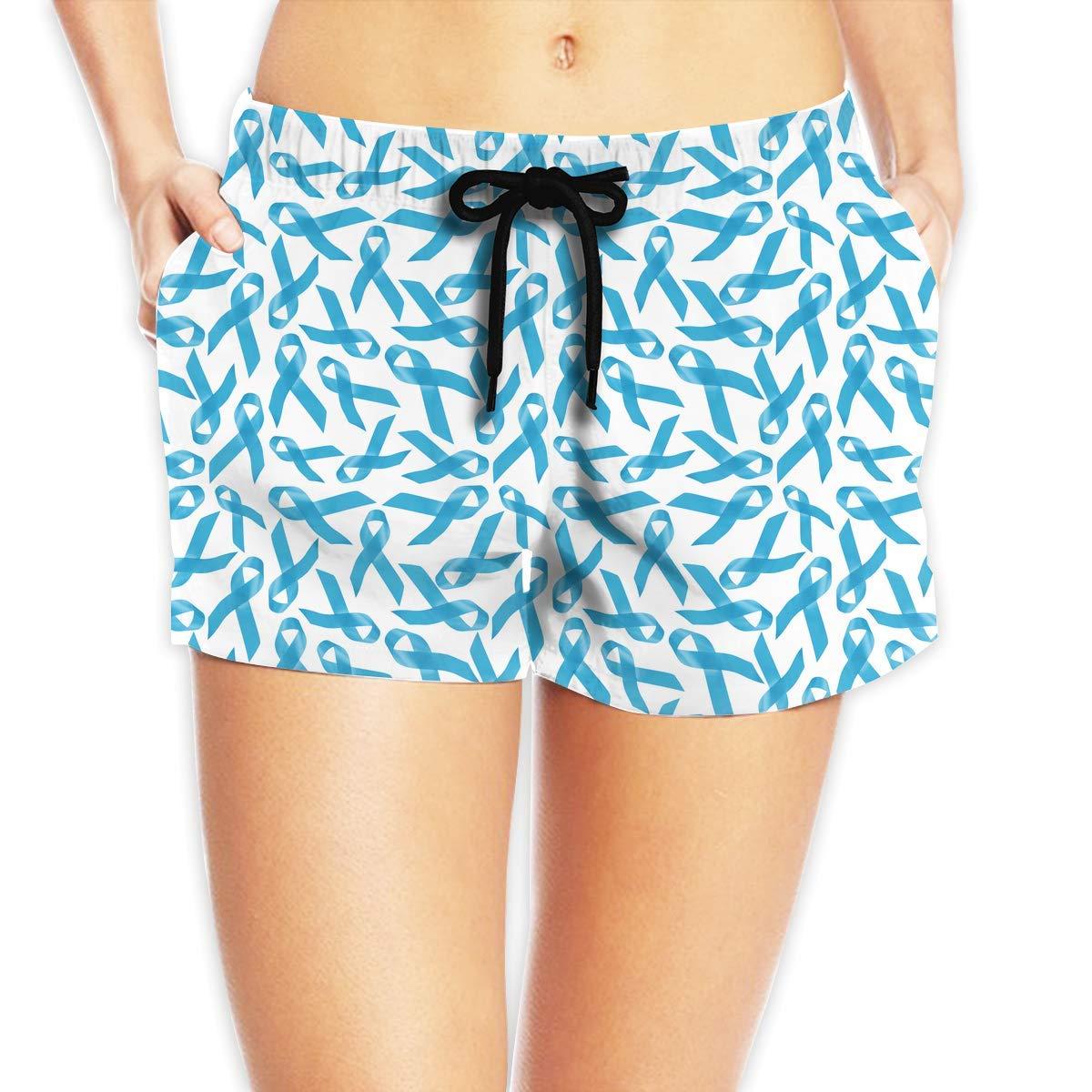 Hlcenng Rainbow Fish Pattern Womens Beach Shorts Dry Fit Beachwear