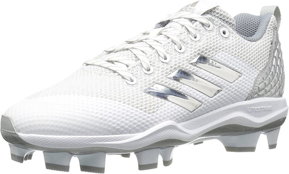 933009e8b93e9 adidas Poweralley 5 TPU Cleats Baseball White-Met Silver-Light Grey