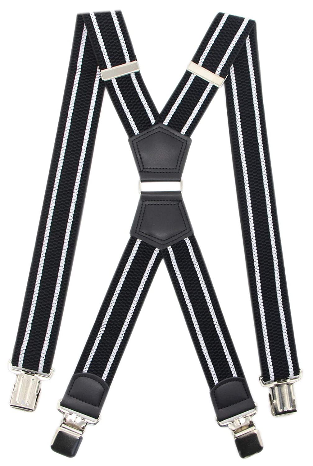 Mens Big Tall Super Strong Clips Wide Suspender X Back Heavy Duty Braces,Pefect For Work/&Casual