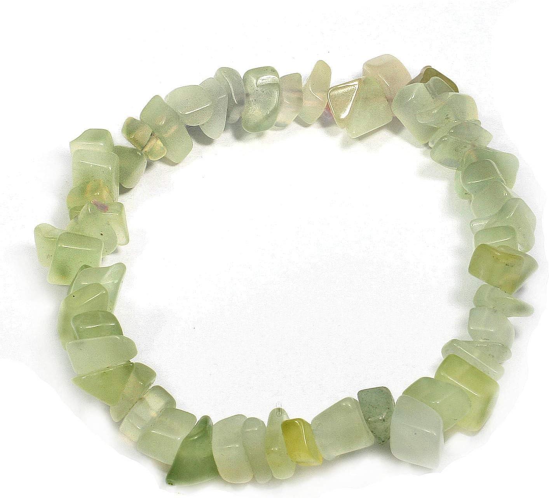 Nuevo Jade Gemstone Chip pulsera