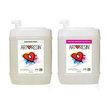 Clear Non-toxic ArtResin Epoxy Resin - 10 gal Pro Bulk Kit