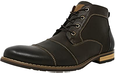 Steve Madden Men's P-Diel Nubuck Brown Mid-Top Leather Boot - 10M