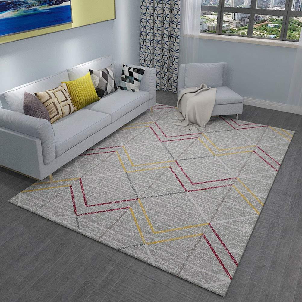 LUYION- Nordic einfache geometrische Teppich Wohnzimmer Sofa Teppich Teppich Couchtisch Couchtisch Couchtisch Matte Schlafzimmer Haus-Matte,c,200x300cm B07L4M3PK2 Teppiche 9111f0
