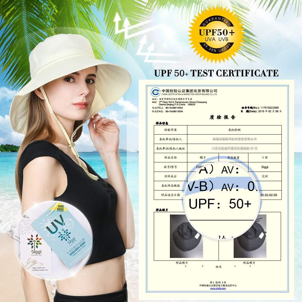 6faab3c7c SIGGI Summer Bill Flap Cap UPF 50+ Cotton Sun Hat Neck Cover Cord Women