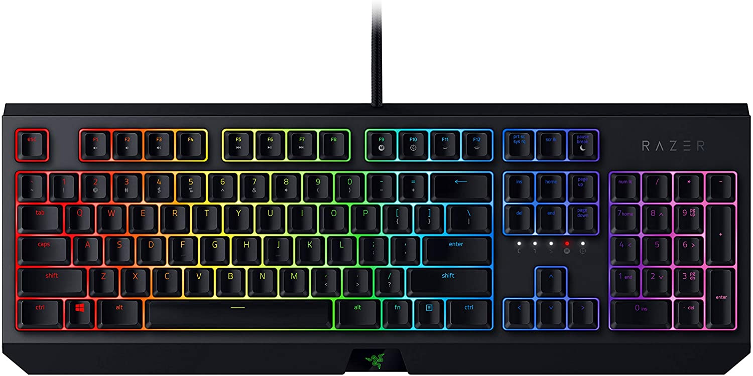 Razer BlackWidow Mechanical Gaming Keyboard: Green Mechanical Switches - Tactile & Clicky - Chroma RGB Lighting - Anti-Ghosting - Programmable Macro Functionality