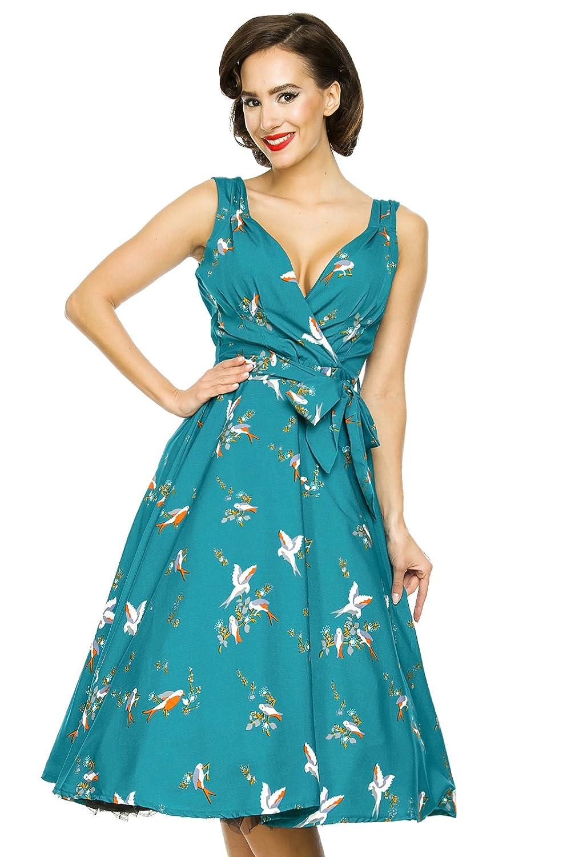 Kushi New Ladies Summer Retro 50s Rockabilly Swing Prom Party Dress - Size 12 - 20: Amazon.co.uk: Clothing