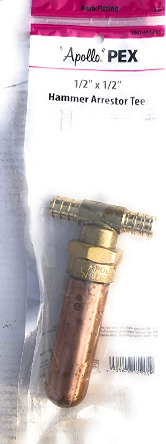 """1//2/"""" BRASS PEX TEES  1//2 x 1//2 x 1//2  Use Oetiker  Sioux Chief crimp rings 2"""