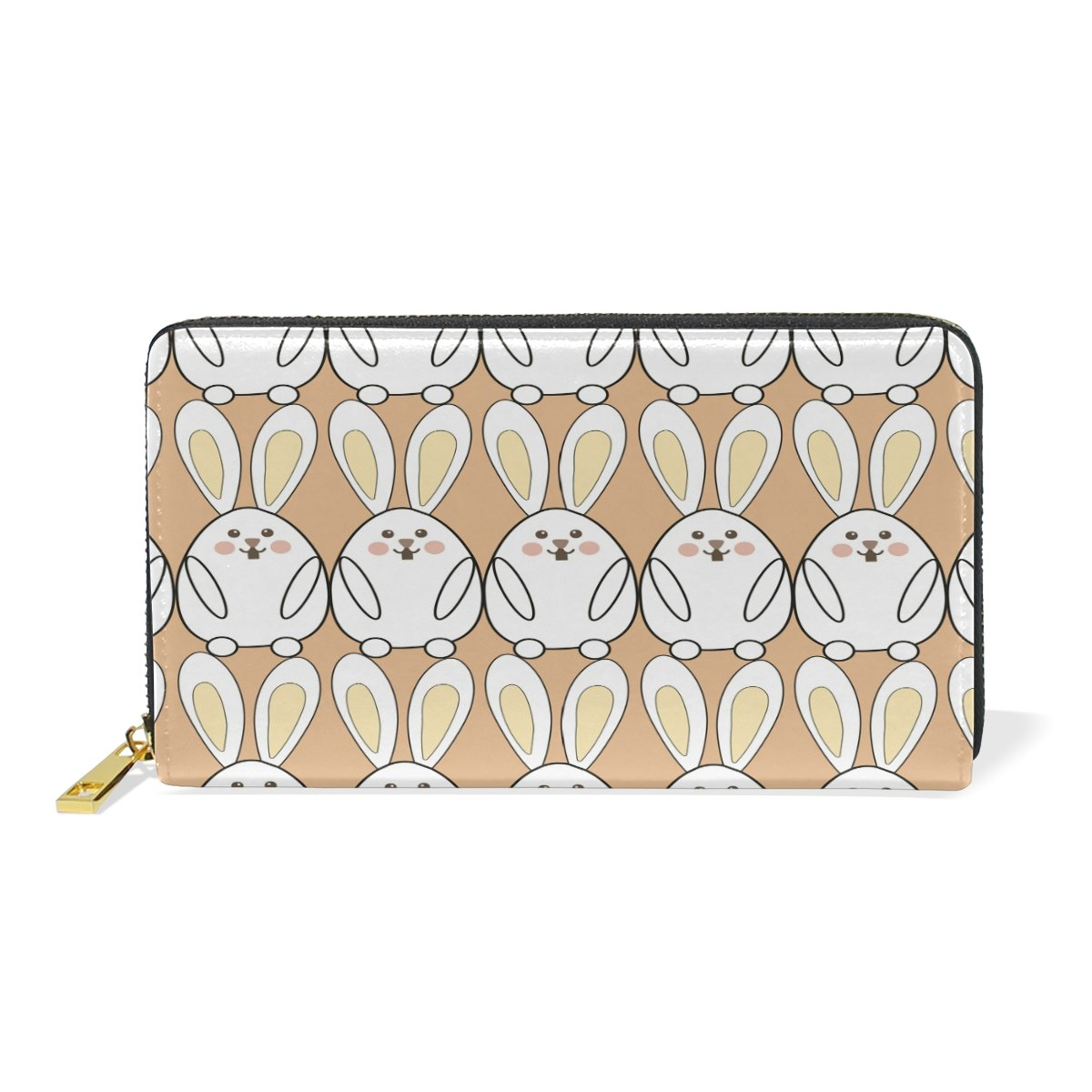 Women Genuine Leather Wallet Rabbits Zipper Purse Girl Phone Clutch
