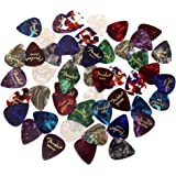 Fender Premium Picks Sampler - 48 Pack Includes Thin, Medium & Heavy Gauges, Assorted Colors