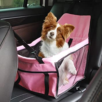 Portable Pet Dog Car Booster Seat For Small Medium Dogs Cats By YierPink