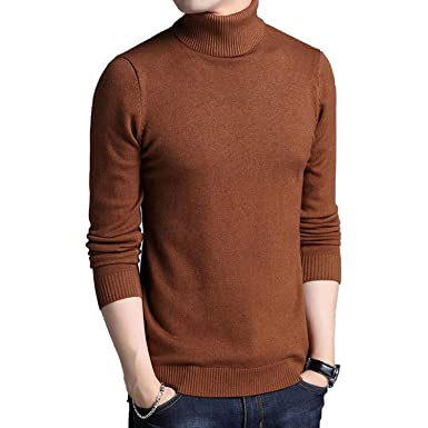 74e74f49f7 KEBINAI novelty-sweaters 2017 New Winter Men s Sweater Men s Turtleneck  Solid Color Casual Sweater