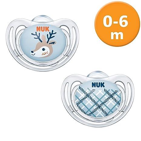 NUK 10175231 Snow Freestyle - Chupete de silicona (0-6 meses ...