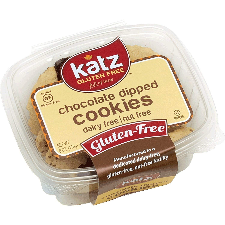 Katz Gluten Free Chocolate Dipped Cookies | Dairy, Nut and Gluten Free | Kosher (6 Packs, 6 Ounce Each) by Katz Gluten Free