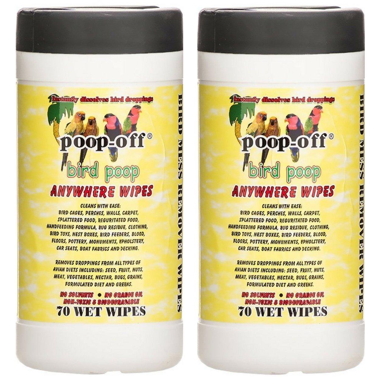 Ames Poop-Off Anywhere Bird Poop Remover Wet Wipes, Set of 70 (2 Pack)