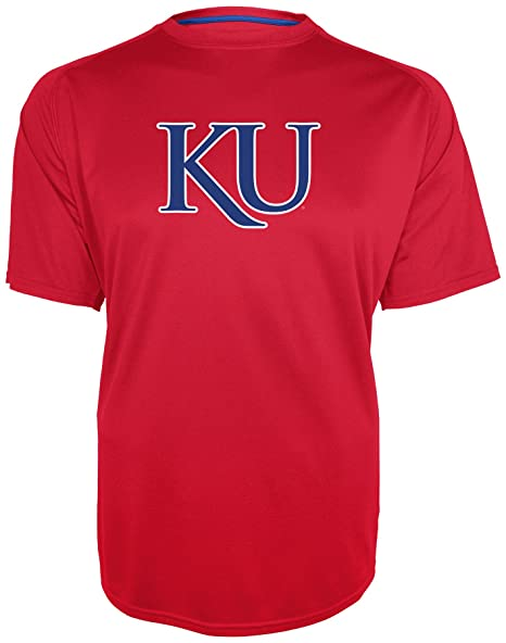 f189a03c Champion NCAA Kansas Jayhawks Training 2 Game Day B.M.O.C. Short Sleeve  Crew Neck Raglan Tee,