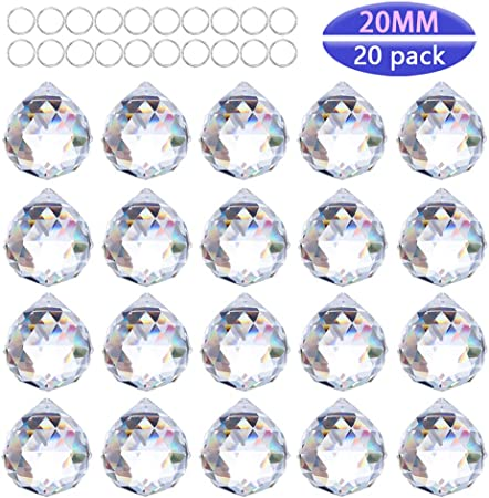 H /& D 40/mm Clear Crystal Ball Prism Pendant Hanging Feng Shui Sun Catchers