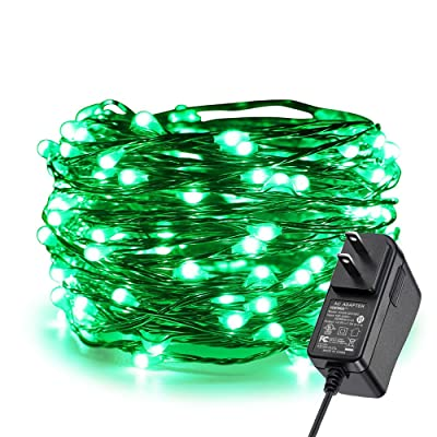 ER CHEN Fairy Lights Plug in, 33Ft/10M 100 LED Starry String Lights Outdoor/Indoor Waterproof Copper Wire Decorative Lights for Bedroom, Patio, Garden, Party, Christmas Tree (Green) : Garden & Outdoor