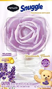 Renuzit Snuggle Fragrance Diffuser Handmade Flower, Relaxing Lavender, 1 Count