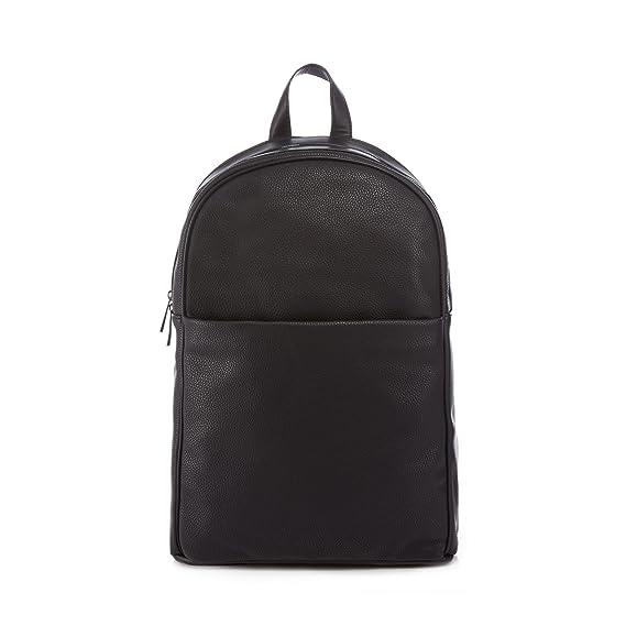 cd236403b672 J By Jasper Conran Men Black Pebbled Polyurethane Backpack One Size  J by Jasper  Conran  Amazon.co.uk  Clothing