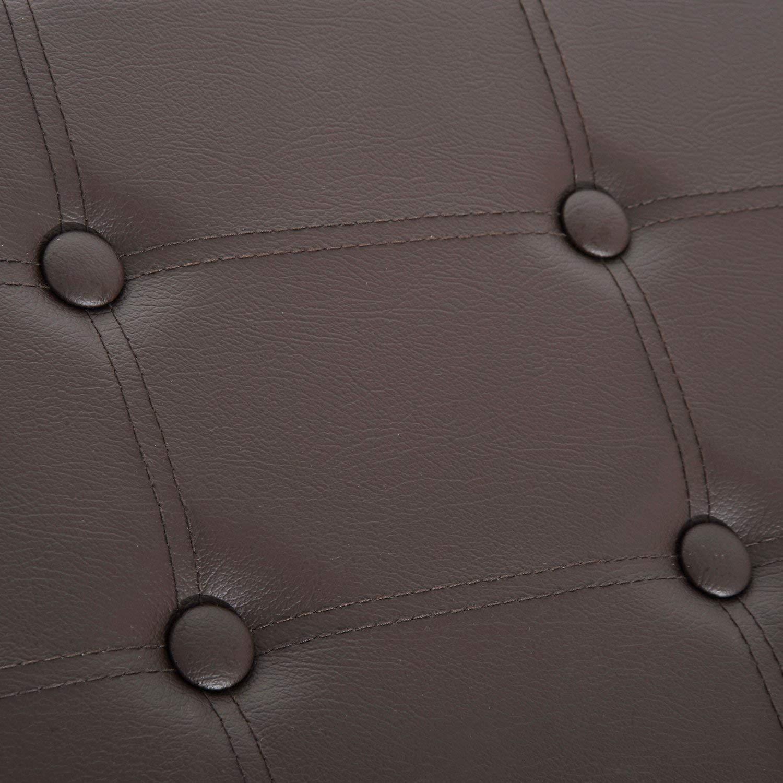 Asiento relleno de esponja con cubierta de cuero