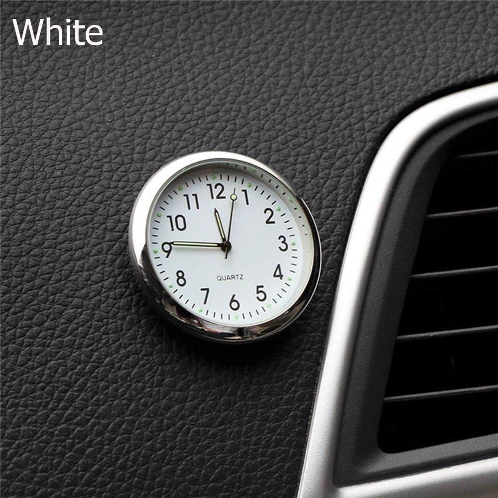 BAAQII Luminous Auto Armaturenbrett Ornament Uhr Auto Air Vent Stick-On Digitale Elektronische Uhr Autoinnenausstattung Quarzuhr