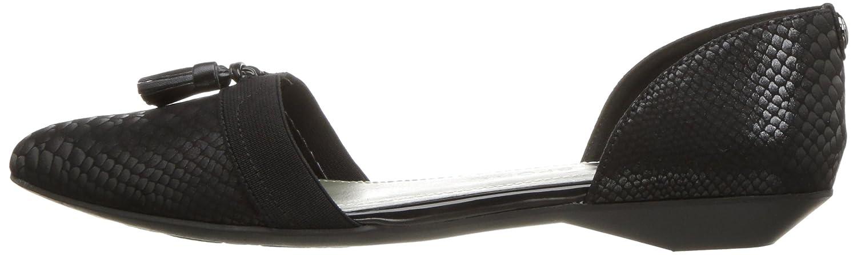 Anne Klein AK Sport Women's Oksie Fabric Ballet Flat B01MZ0KY0H 5 B(M) US Black/Multi Fabric