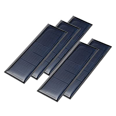 uxcell 5Pcs 5.5V 60mA Poly Mini Solar Cell Panel Module DIY for Light Toys Charger 90mm x 30mm: Automotive