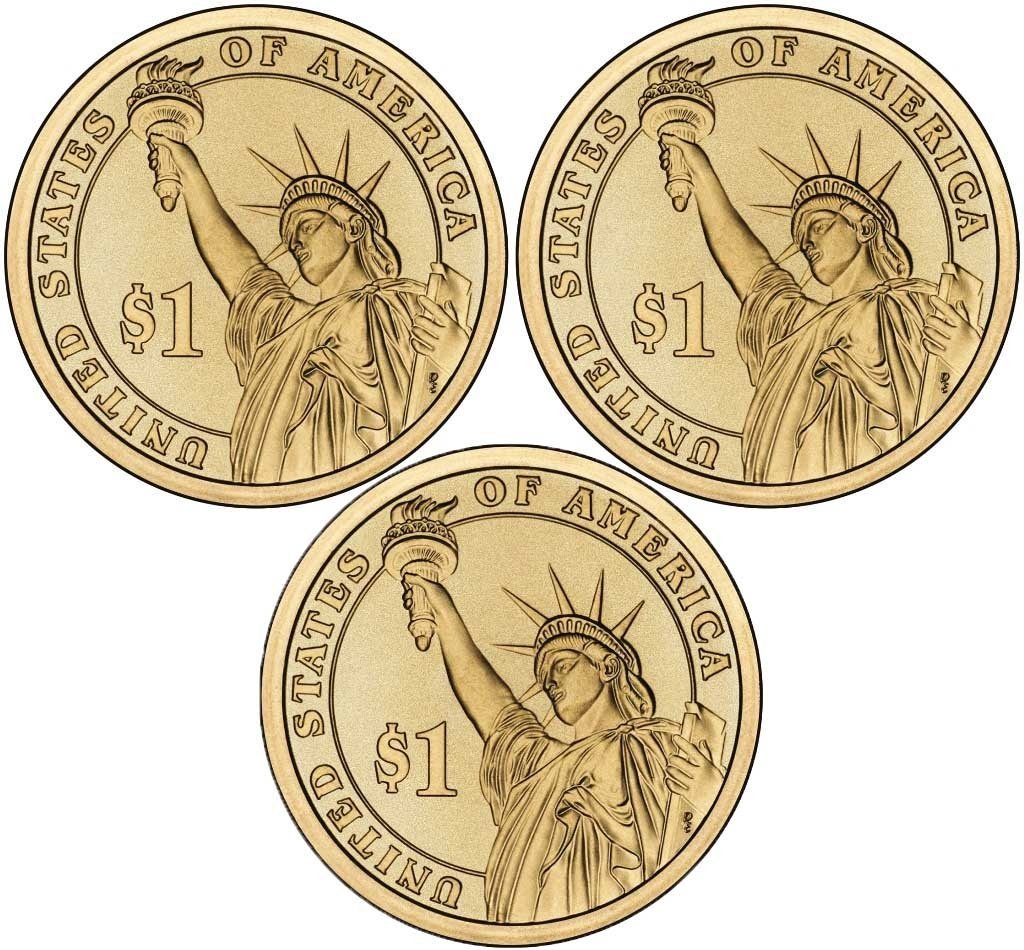 2016 P Presidential Dollar 3 Coin P Mint Uncirculated