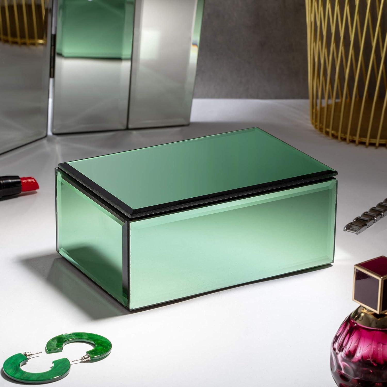 Beautiful You Bo/îte /à Bijoux en Miroir Organisateur de Bijoux et de Beaut/é Enti/èrement Doubl/é de Velours de Coton Doux Rangement pour la Maison et la Chambre