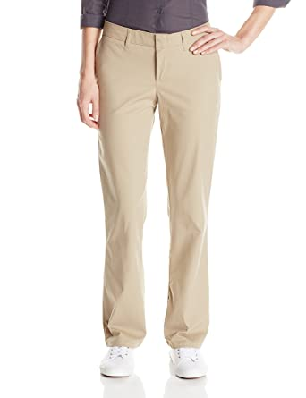 dc4707026ea Image Unavailable. Image not available for. Color  Dickies Women s Slim Fit  Boot Cut Leg Twill Pant ...