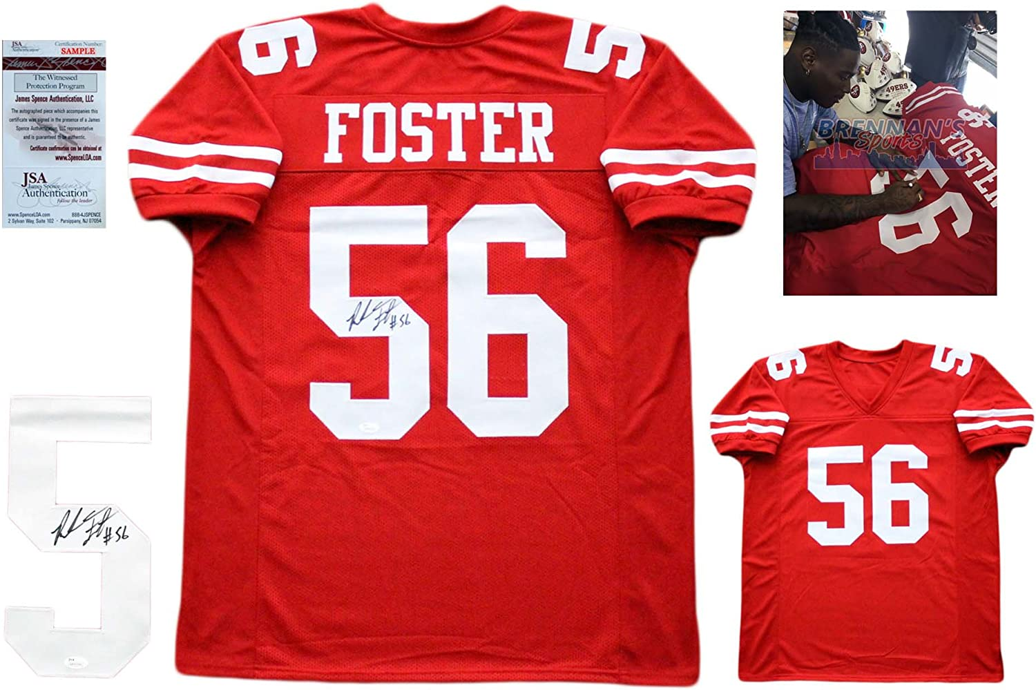 Reuben Foster Signed Custom Jersey - JSA Autographed w/ Photo - Red