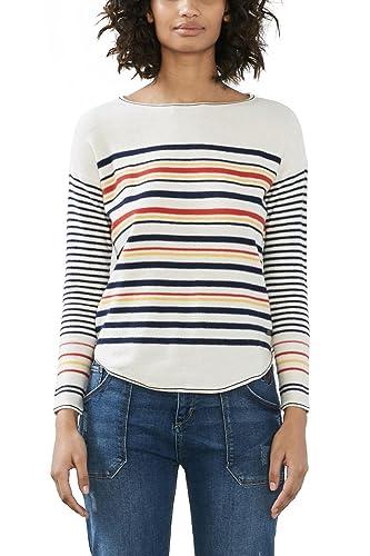edc by ESPRIT 027cc1i017, Suéter para Mujer, Multicolor (Off White), 40 (Talla del Fabricante: Large...