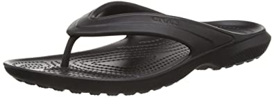 Crocs Unisex Classic Flip-Flop, Black, 10 M (D) US Men