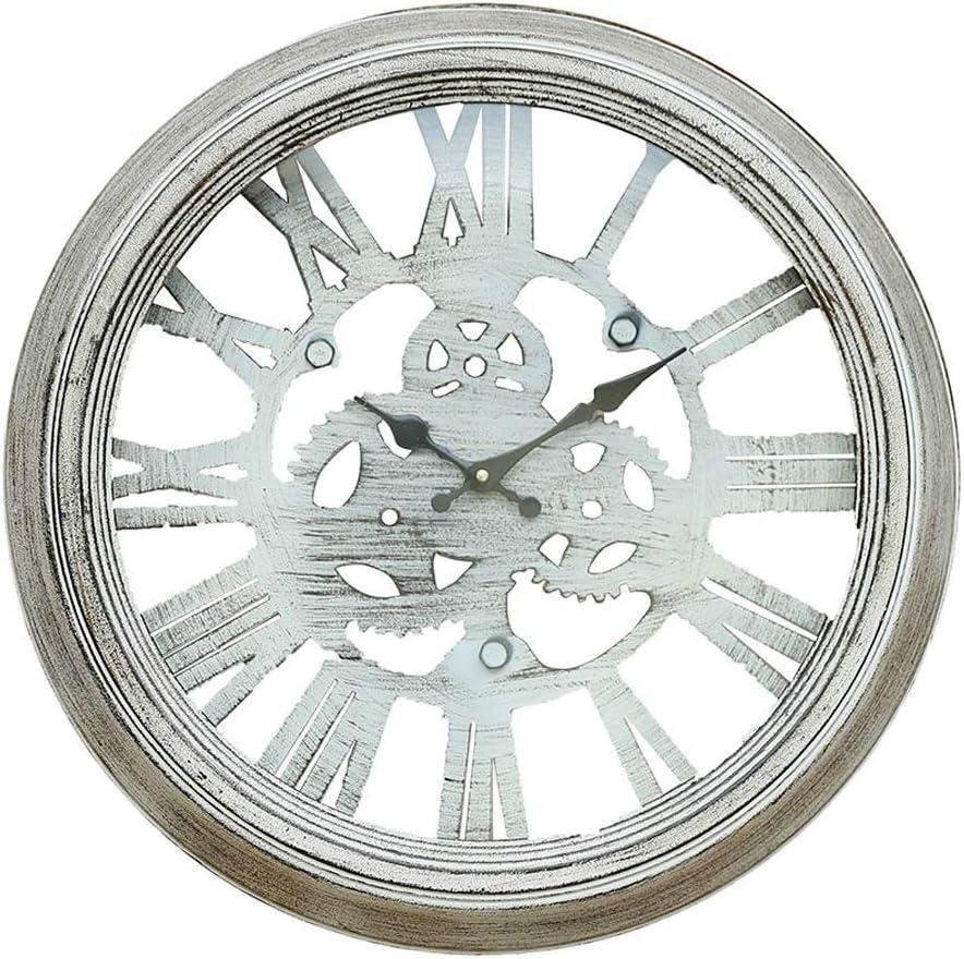 Beauty Brand Reloj De Pared del Engranaje Maquinaria Eólica Industrial Reloj Retro Nostálgico Decorativo Sala De Estar Dormitorio Silencioso Reloj Redondo: Amazon.es: Hogar