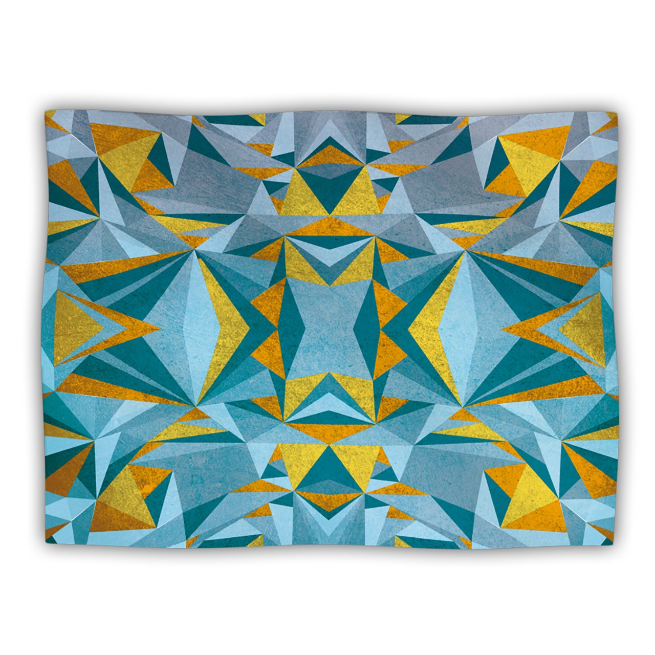 Kess InHouse Nika Martinez 'Abstraction bluee and gold' Dog Blanket, 40 by 30-Inch