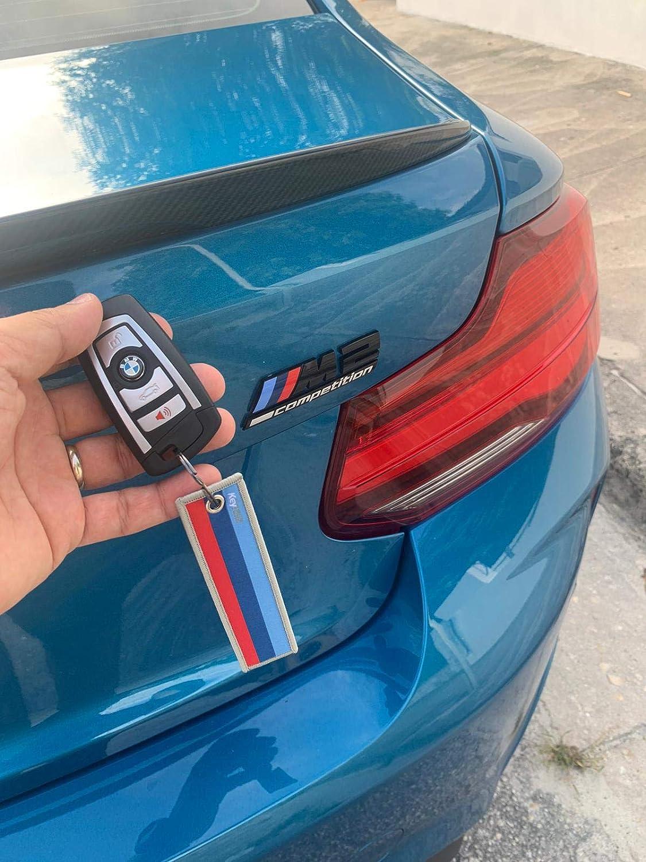 Premium Quality Key Tag fits BMW Cars Motorcycle M Stripe KEYTAILS Keychains