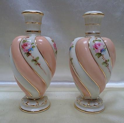 Amazon Gorgeous Kaolena Antique Ivory Peach Color Swirl Vases