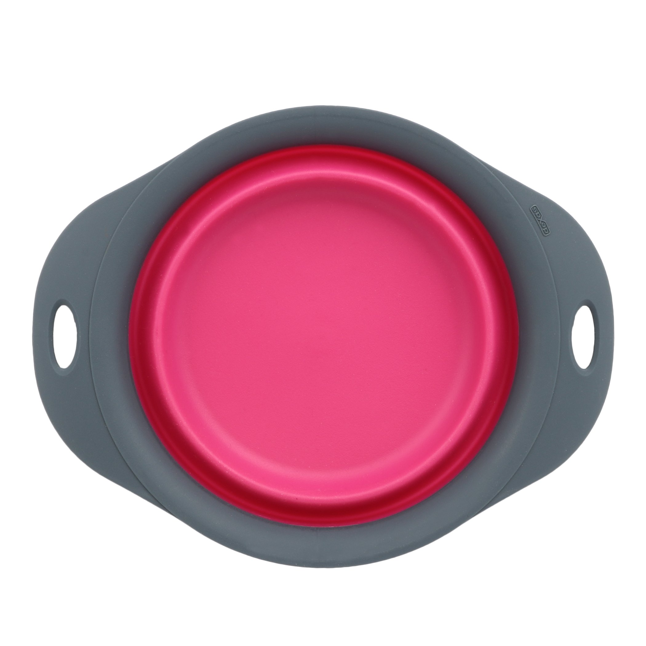 Dexas Popware for Pets Single Bowl Collapsible Travel Feeder, 3 Cup Capacity, Pink by Dexas