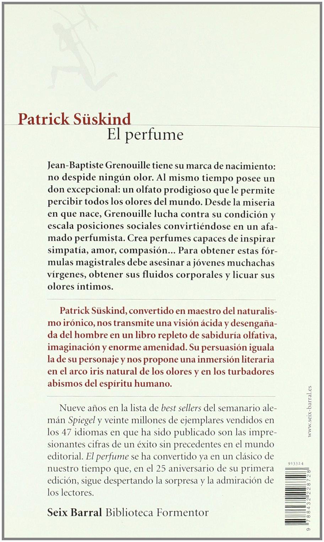 El perfume (ed. 25 aniv.) (Biblioteca Formentor): Amazon.es ...