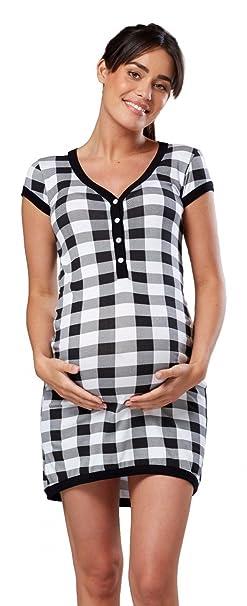 5dbeb3237 HAPPY MAMA. Para Mujer camisón premamá Embarazo Lactancia Escote de Pico.  981p  Amazon.es  Ropa y accesorios