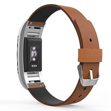 MoKo Fitbit Charge 2 SmartWatch Correa, Prima Suave Cuero Genuino ...