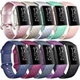 Vancle Bands Compatible with Fitbit Charge 4 / Charge 3 / Charge 3 SE Bands, Classic Soft Replacement Wristband Sport…