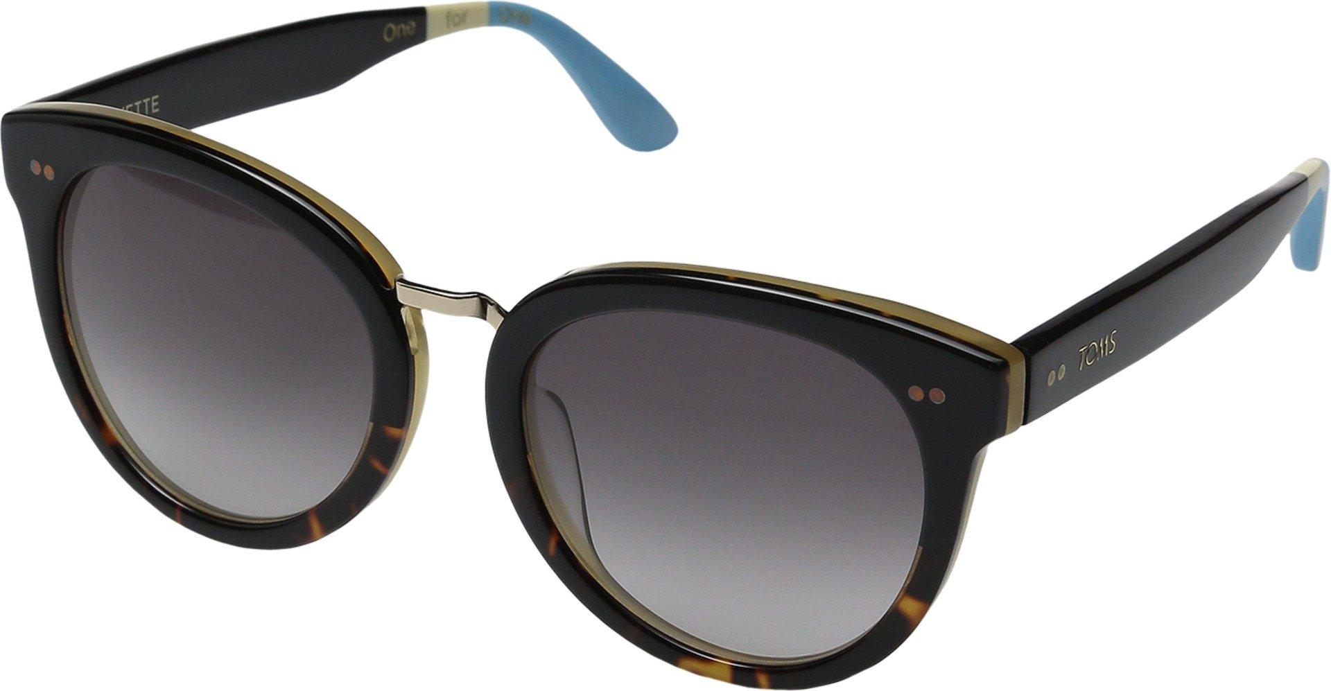 TOMS Women's Yvette Black Tortoise Fade Sunglasses