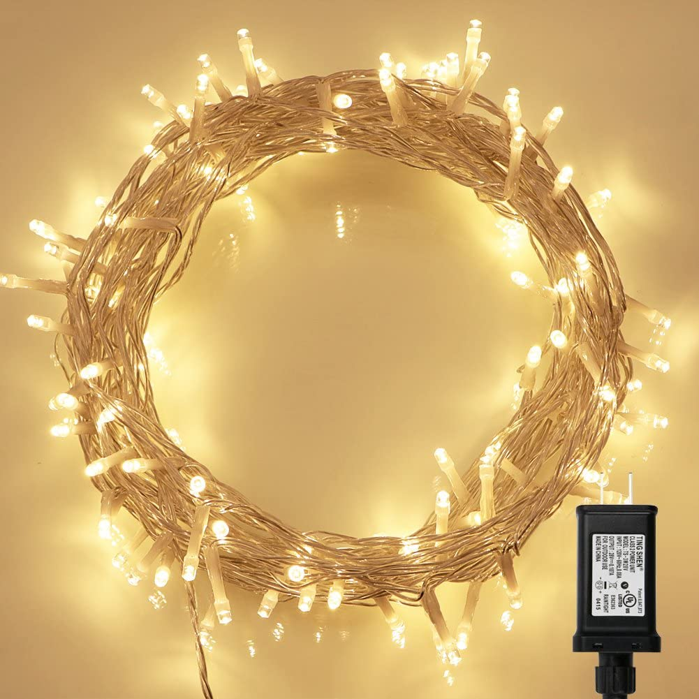 100 LED Indoor Fairy Lights with [Remote] &[Timer] on 36ft Clear String