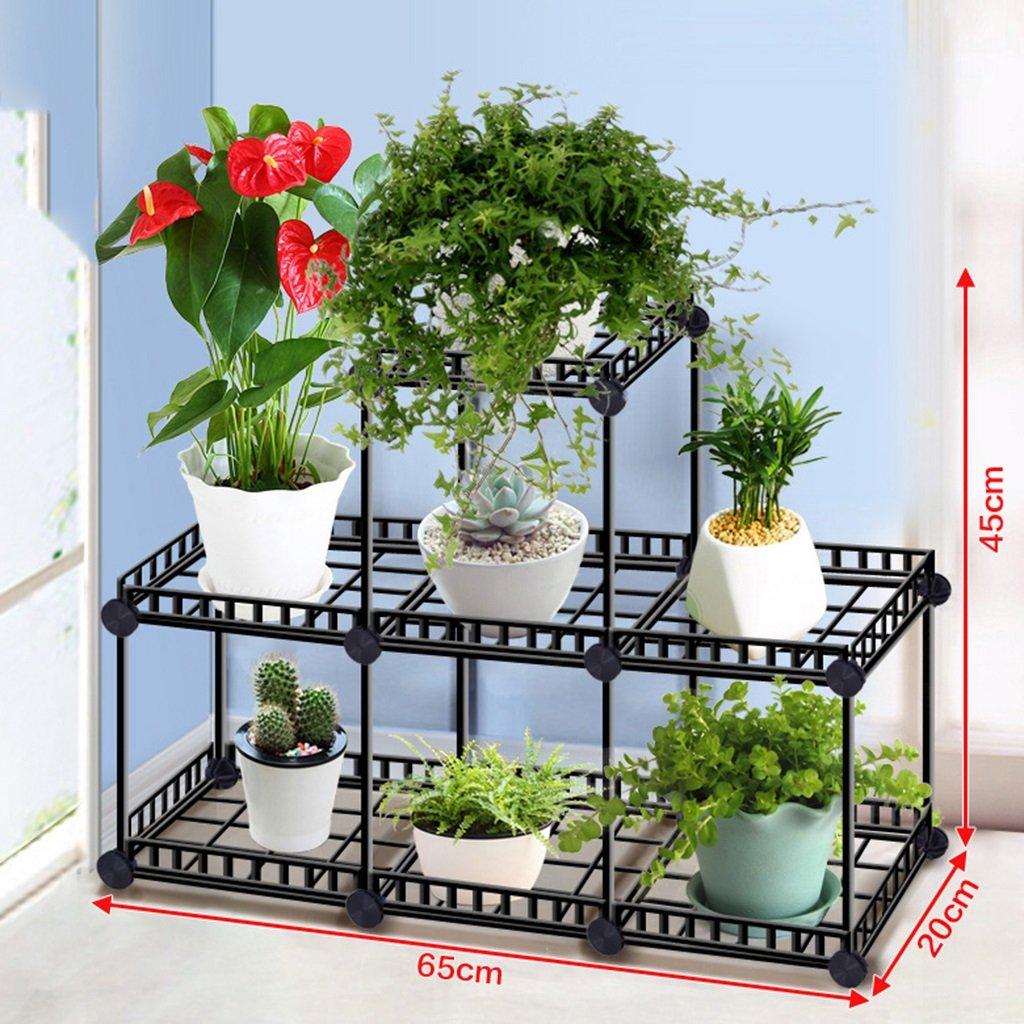 &Espositore Piattaforme a fiori multistrato, ripiani piani a balcone piattaforma multifunzione per vaso da fiori ( dimensioni : 20*20*45CM ) QQB