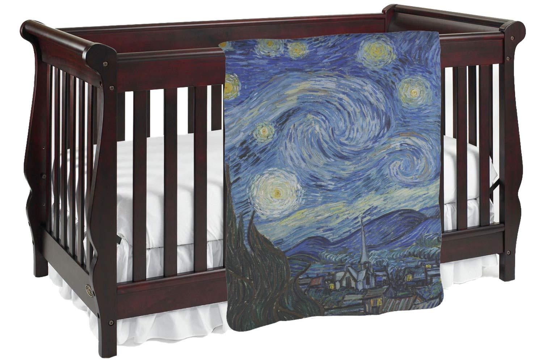 The Starry Nightゴッホ1889 ) Baby Blanket Baby Blanket パープル mi-baby-blanket-fb+673055 両面  B01KIOPT30