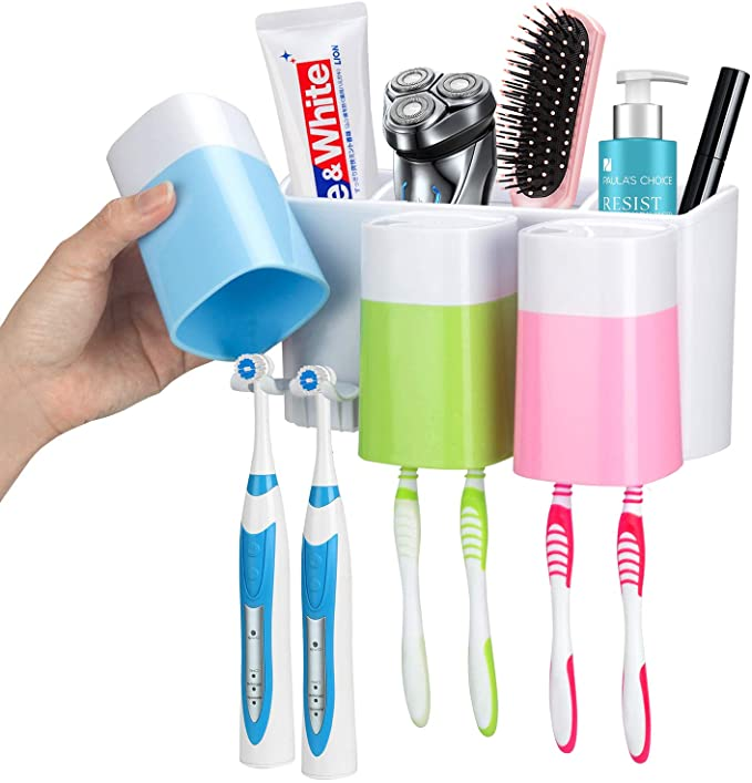 Toothbrush Holder Wall Mounted with Large Capacity