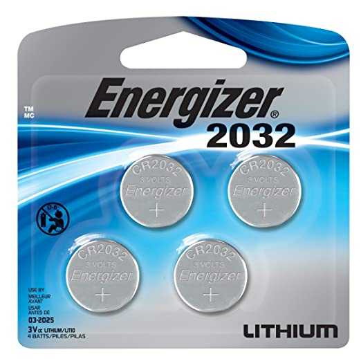 4-Pack Energizer 3V Watch/Electronic Lithium Coin Batteries (2032)