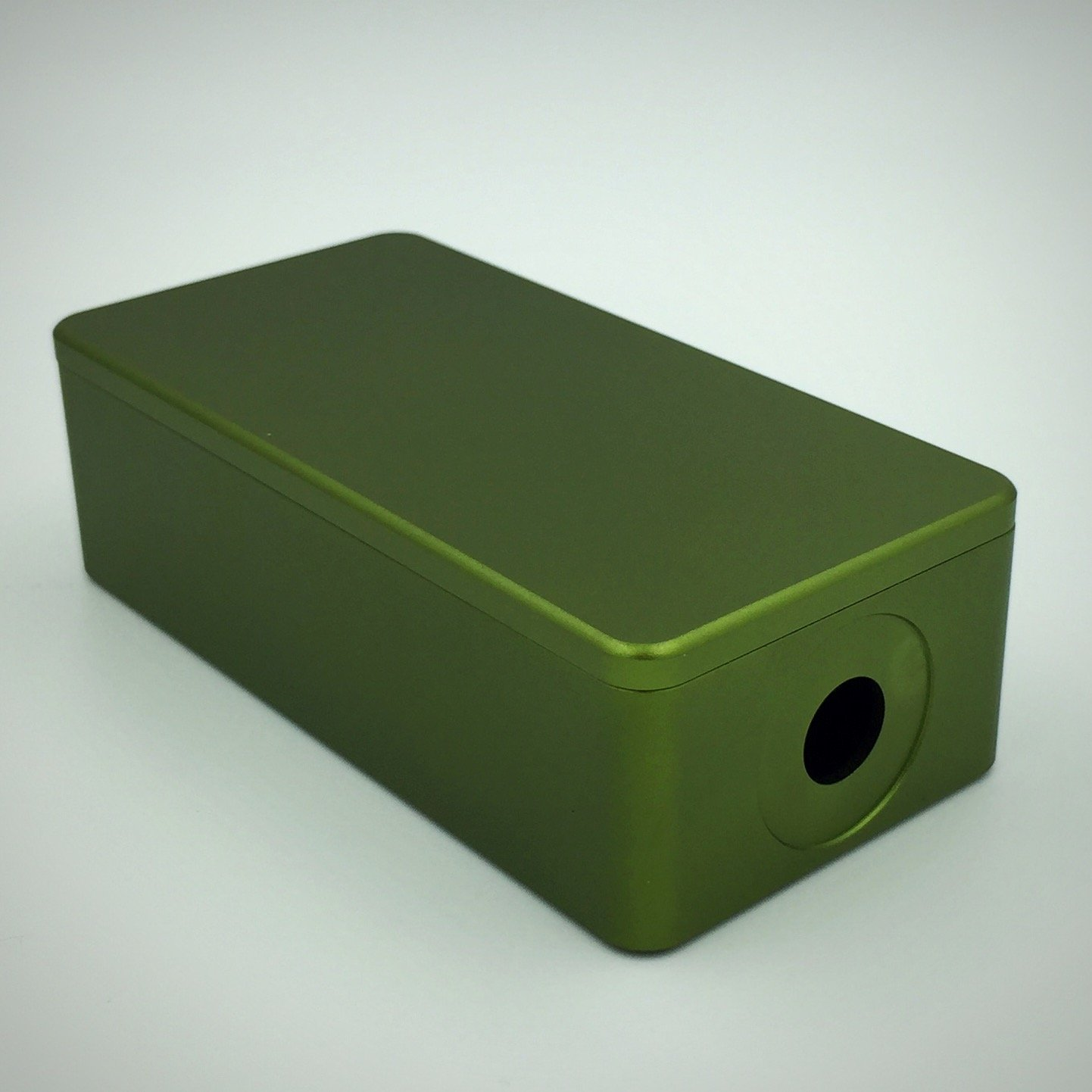"BMG Mods ""1590g Tall"" CNC Milled Anodized Aluminum 18650 Battery Enclosure: Olive Green (Satin Finish)"